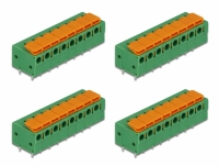 Delock Terminal block with push button for PCB 8 pin 5.08 mm pitch horizontal 4 pieces