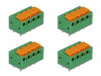 Delock Terminal block with push button for PCB 4 pin 5.08 mm pitch horizontal 4 pieces