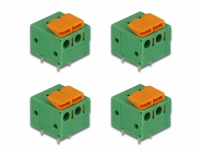 Delock Terminal block with push button for PCB 2 pin 5.08 mm pitch horizontal 4 pieces