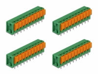 Delock Terminal block with push button for PCB 10 pin 5.08 mm pitch vertical 4 pieces
