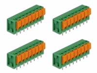 Delock Terminal block with push button for PCB 8 pin 5.08 mm pitch vertical 4 pieces