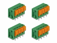 Delock Terminal block with push button for PCB 4 pin 5.08 mm pitch vertical 4 pieces