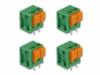 Delock Terminal block with push button for PCB 2 pin 5.08 mm pitch vertical 4 pieces