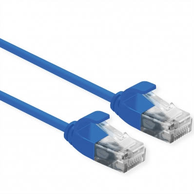 ROLINE UTP Data Center Patch Cord Cat.6A, LSOH, Slim, blue, 2 m