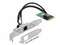 Delock Mini PCIe I/O PCIe full size 1 x RJ45 Gigabit LAN