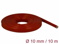 Delock Fire-Proof Sleeving Silicone-Coated 10 m x 10 mm red