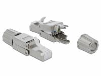 Delock RJ45 plug Cat.6A STP toolfree