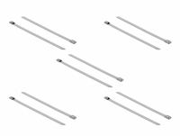 Delock Stainless Steel Cable Ties L 300 x W 7.9 mm 10 pieces
