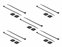 Delock Cable Tie Mount 25 x 25 mm with Cable Tie L 150 x W 3.6 mm black