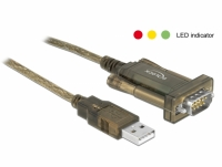 Delock Adapter USB 2.0 Type-A > 1 x Serial DB9 RS-232