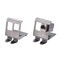 ROLINE DIN Rail Adapter, empty, double for 2x Keystones