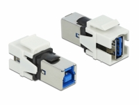 Delock Keystone Module USB 3.0 A female > USB 3.0B female white