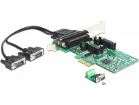 Delock PCI Express Card > 2 x Serial RS-422/485 High Speed 921K 2 kV Isolation 600 W Surge