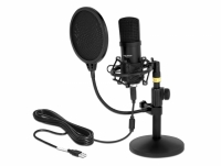Delock Professional USB Condenser Microphone Set for Podcasting and Gaming