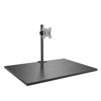 Lindy Single Display Short Bracket w/ Pole & Desk Clamp