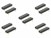 Delock DIP switch Tri-State 9-digit 2.54 mm pitch THT vertical black 10 pieces