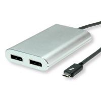 ROLINE Thunderbolt™ 3 - 2x DisplayPort Video Adapter