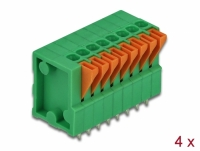 Delock Terminal block with push button for PCB 8 pin 2.54 mm pitch vertical 4 pieces