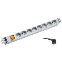 "Lindy 19"" 8x powerboard with switch, 1U"