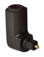 Lindy TosLink Adapter, 360 Degree Right Angled