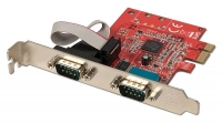 Lindy 2 Port Serial RS-232, 16C650, 128 Byte FIFO, PCIe Card