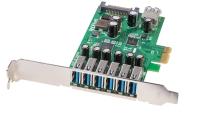 Lindy USB 3.0 Card 6+1 Port, PCIe