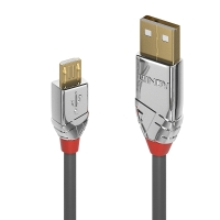 Lindy 0.5m USB 2.0 Type A to Micro-B Cable, Cromo Line