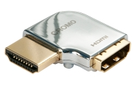 Lindy CROMO HDMI Male to HDMI Female 90 Degree Right Angle Adapter - Left