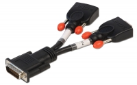 Lindy DMS 59 Male to 2 x VGA Female Splitter Cable