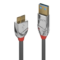 Lindy 0,5m USB 3.0 Type A to Micro-B Cable, Cromo Line