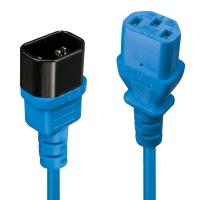 Lindy IEC Extension Cable, Blue, 1m