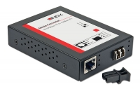 Lindy LC Fast Ethernet Fibre Optic Converter, 10/100Base-TX to 100Base-FX, Multi-mode