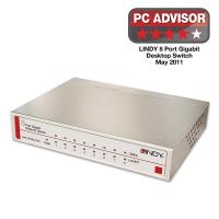 Lindy Network Switch - Gigabit, Desktop, 8 Port, 10/100/1000