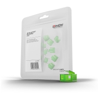 Lindy RJ-45 Port Blockers x 20 (without key), Green