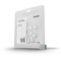 Lindy USB Port Blockers, blue, 10pcs