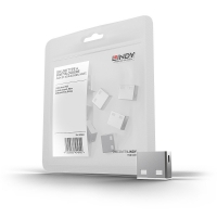Lindy USB Port Blocker (without key) - Pack of 10, Colour Code: White