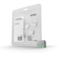 Lindy USB Port Blocker (without key) - Pack of 10, Colour Code: Green