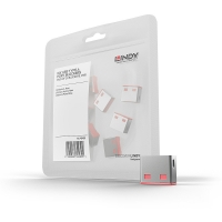 Lindy USB Port Blocker (without key) - Pack of 10, Colour Code: Pink