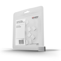 Lindy USB Typ C Port Blockers, white, 10pcs