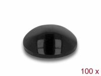 Delock Rubber feet round self-adhesive 5 x 2 mm 100 pieces black