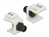 Delock Keystone Module M8 male 6 pin white