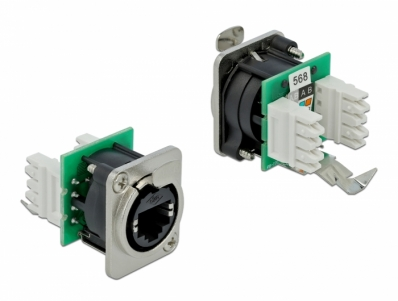 Delock D-Type Module RJ45 jack to LSA