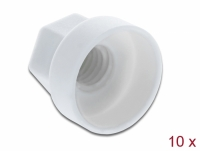 Delock Protective cap hexagon for screw M6 white 10 pieces