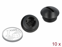 Delock Sealing Plug M12 x 1.5 black 10 pieces