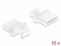 Delock Dust Cover for USB Type-C™ female with grip 10 pieces white