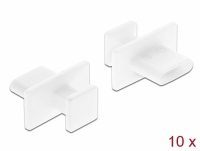 Delock Dust Cover for USB Type-C™ female with big grip 10 pieces white