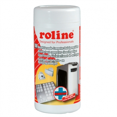 ROLINE Disinfectant Computer Cleaning Wipes