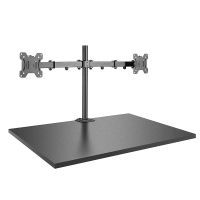Lindy Discreetly mount a single display to a fixed ceiling to floor pole