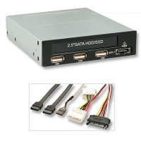 """Lindy 3.5"""" Modular bay for 2.5"""" HDD/SSD with USB ports & eSATAp"""