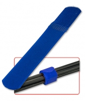 Lindy Cable ties with Hook and Loop fastening, 10 pieces, blue